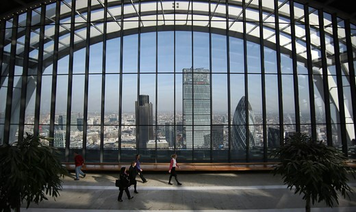 Looking north from the Sky Garden at 20 Fenchurch Street in London. Source: Getty Images